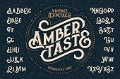 Vintage decorative font named 'Amber Taste'