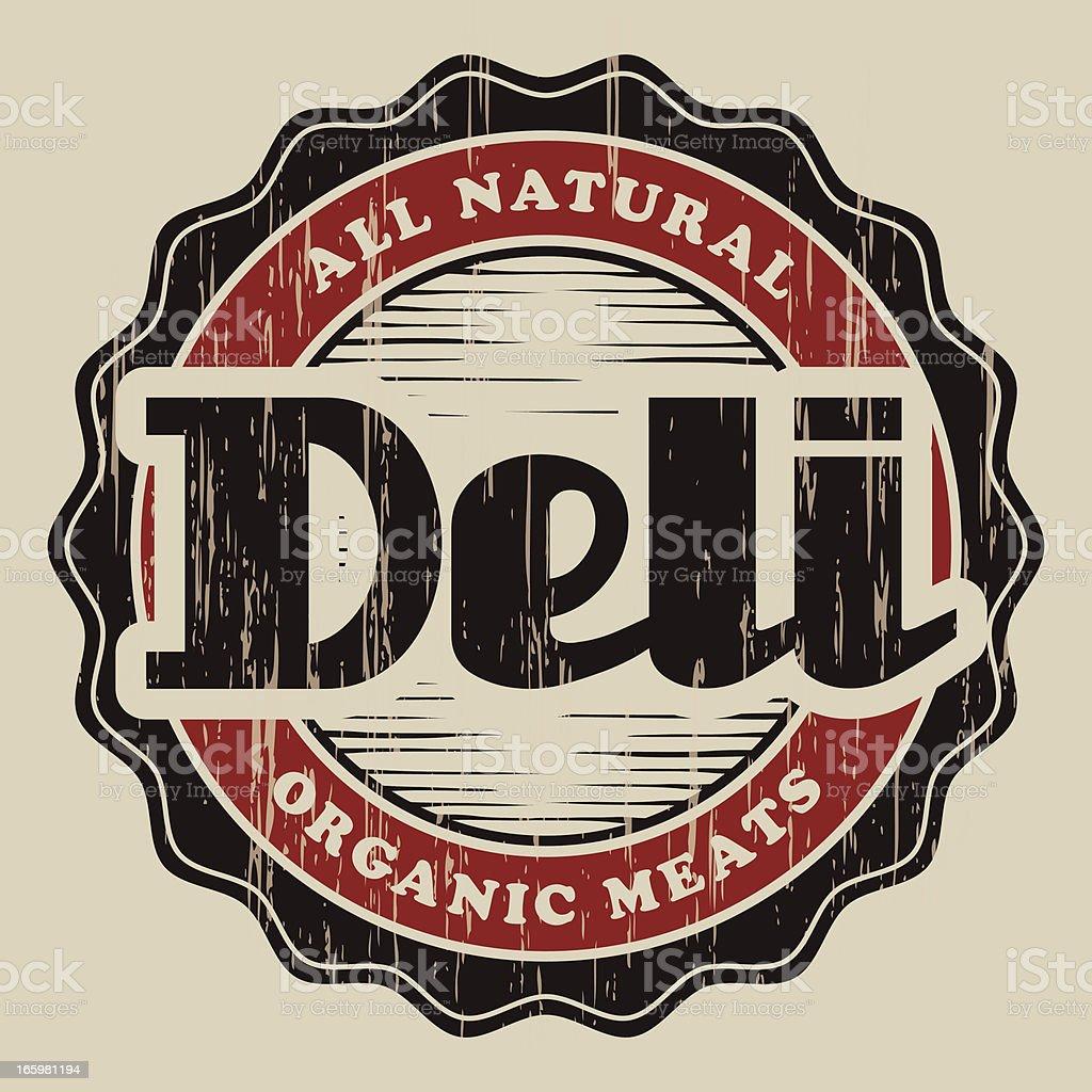 Vintage Deli Label vector art illustration