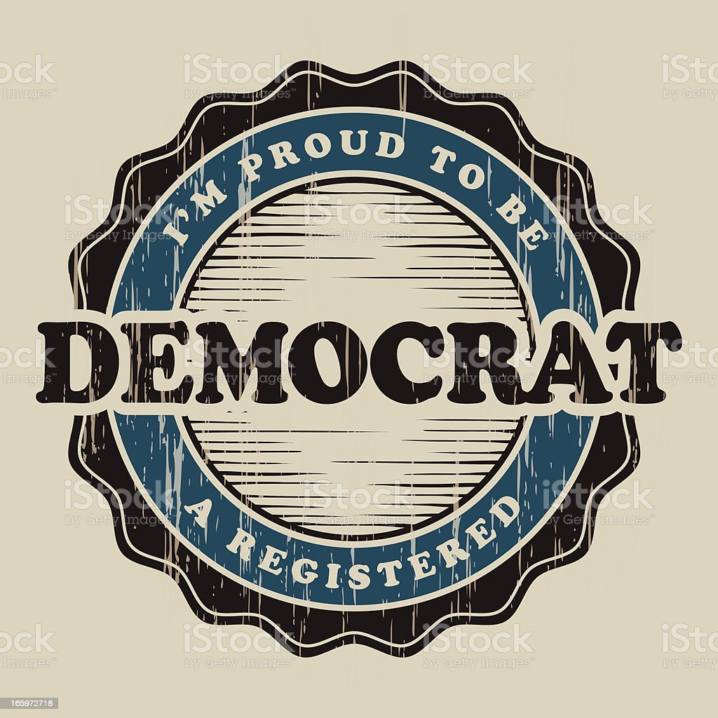 Vintage Democrat Label royalty-free stock vector art