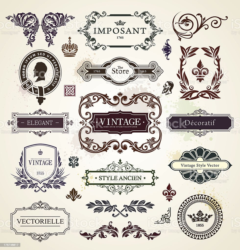 Vintage design elements royalty-free stock vector art