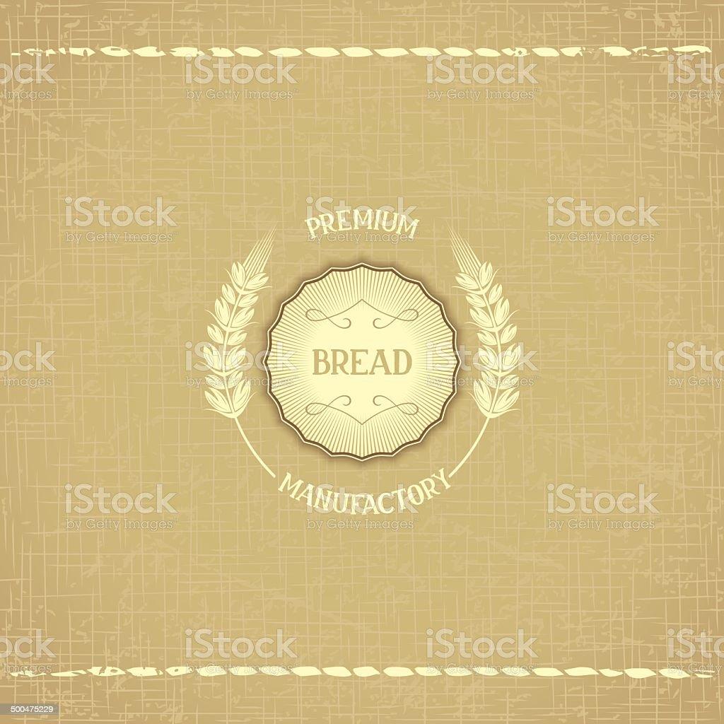 Vintage design emblem for baked goods vector art illustration