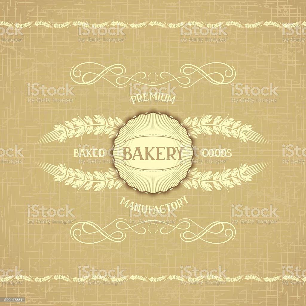 Vintage design for decoration bakery vector art illustration