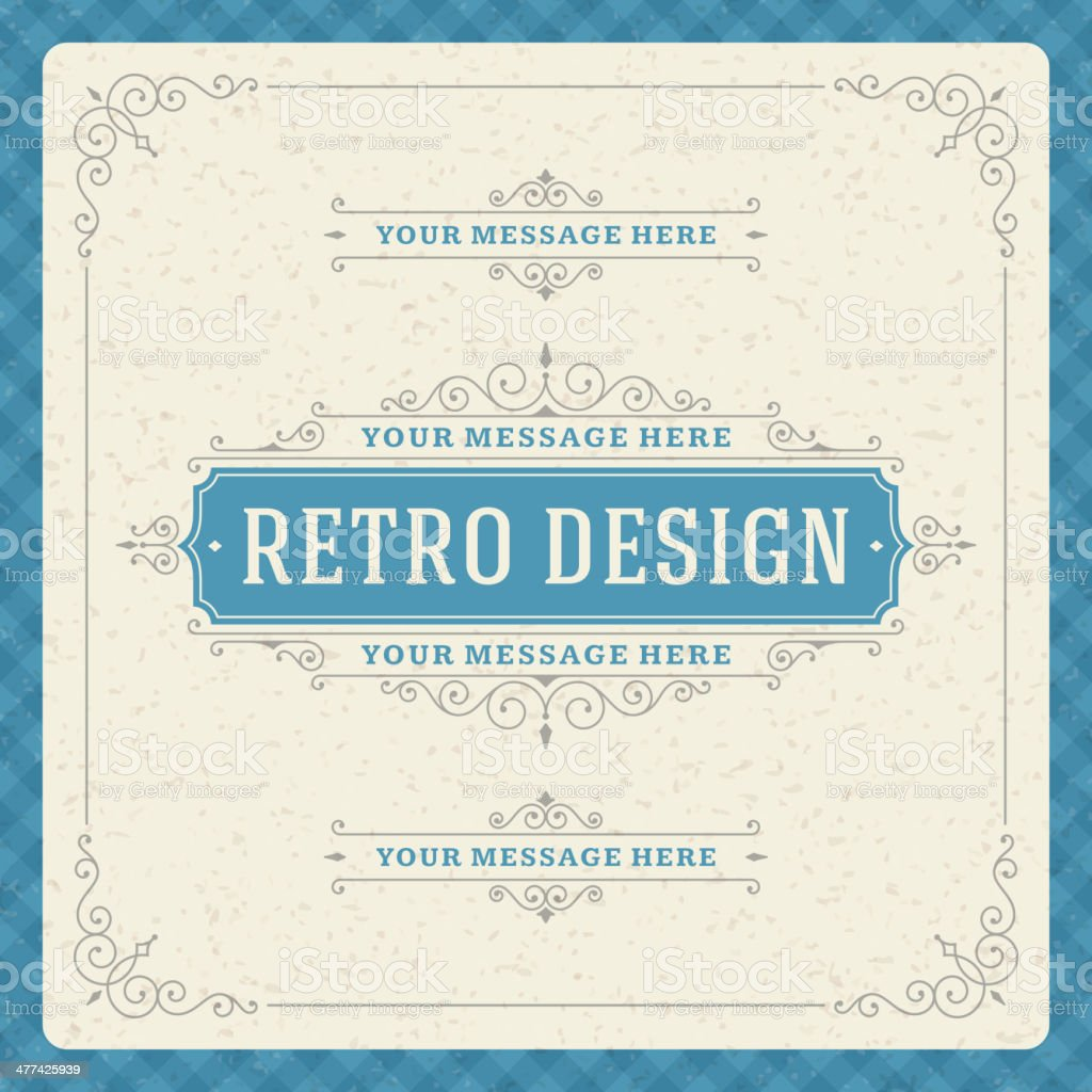 Vintage design template royalty-free stock vector art