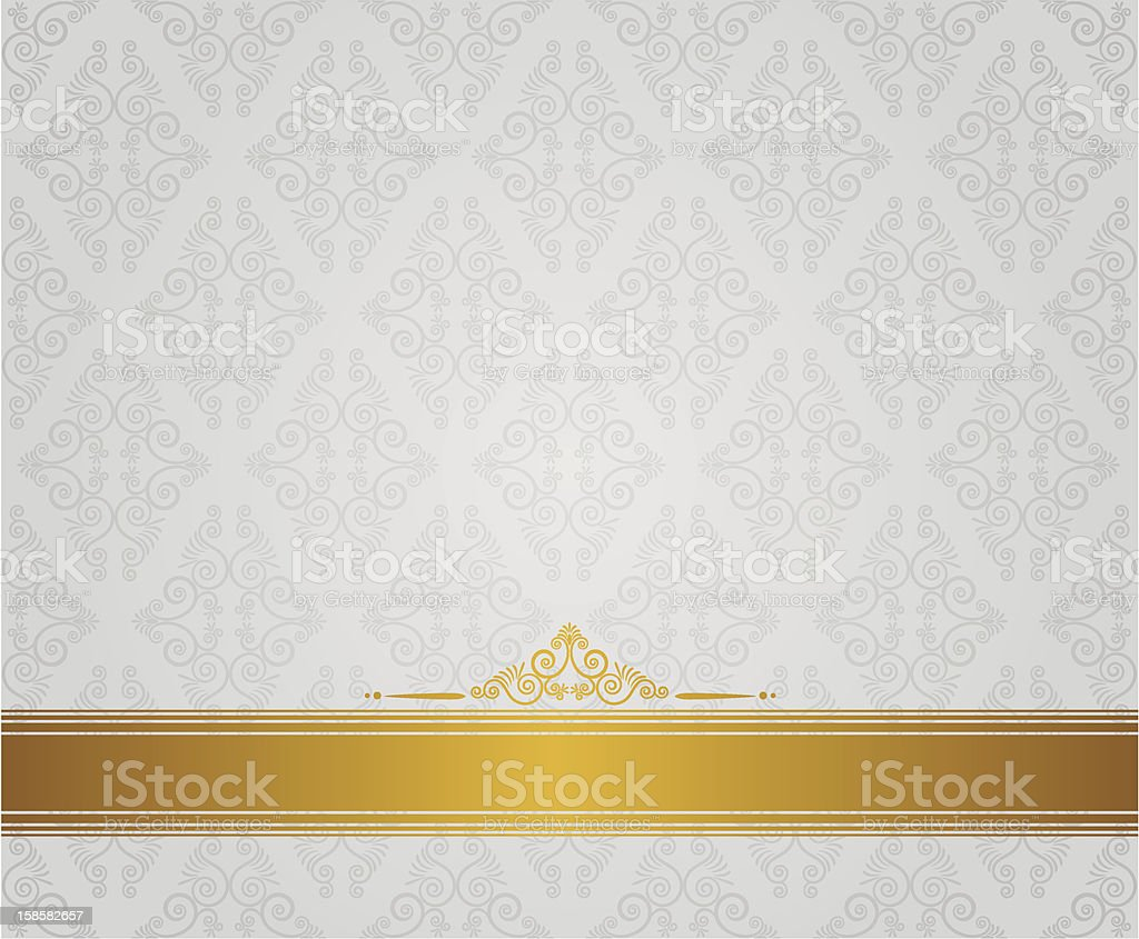A vintage diamond white and gold background royalty-free stock vector art