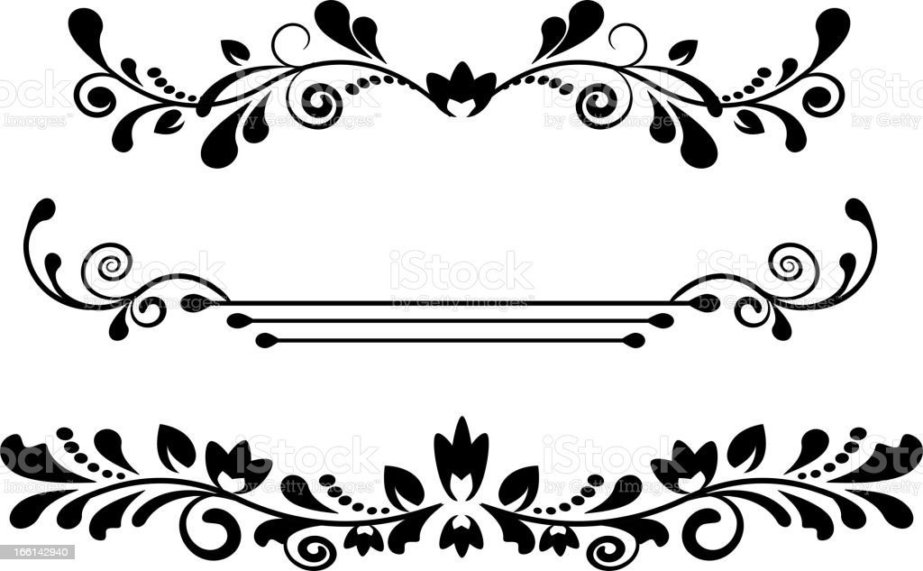 Vintage dividers and borders royalty-free stock vector art