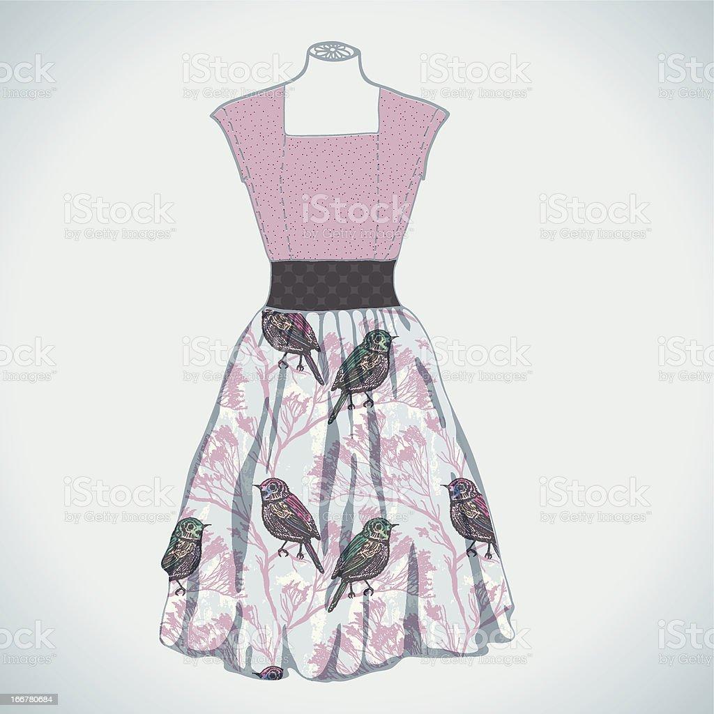 Vintage dress royalty-free stock vector art