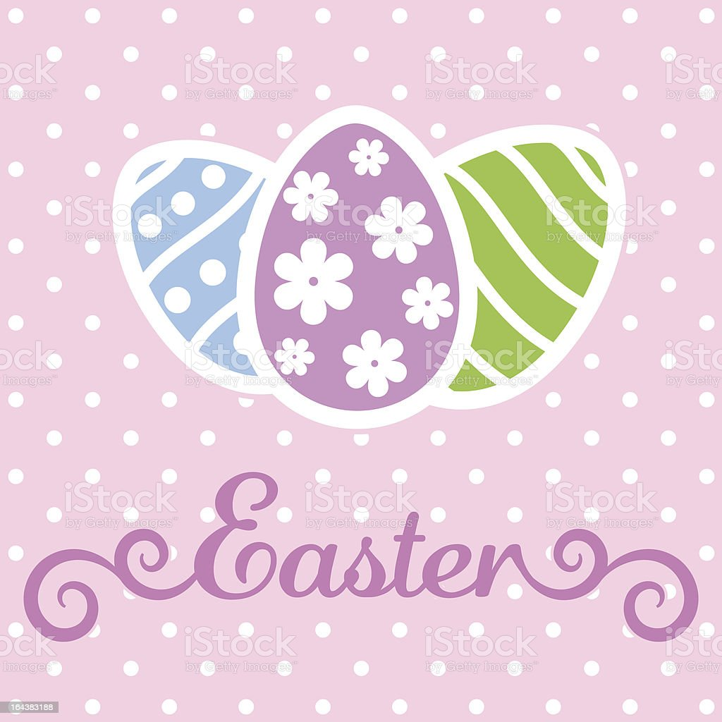 Vintage Easter card royalty-free stock vector art