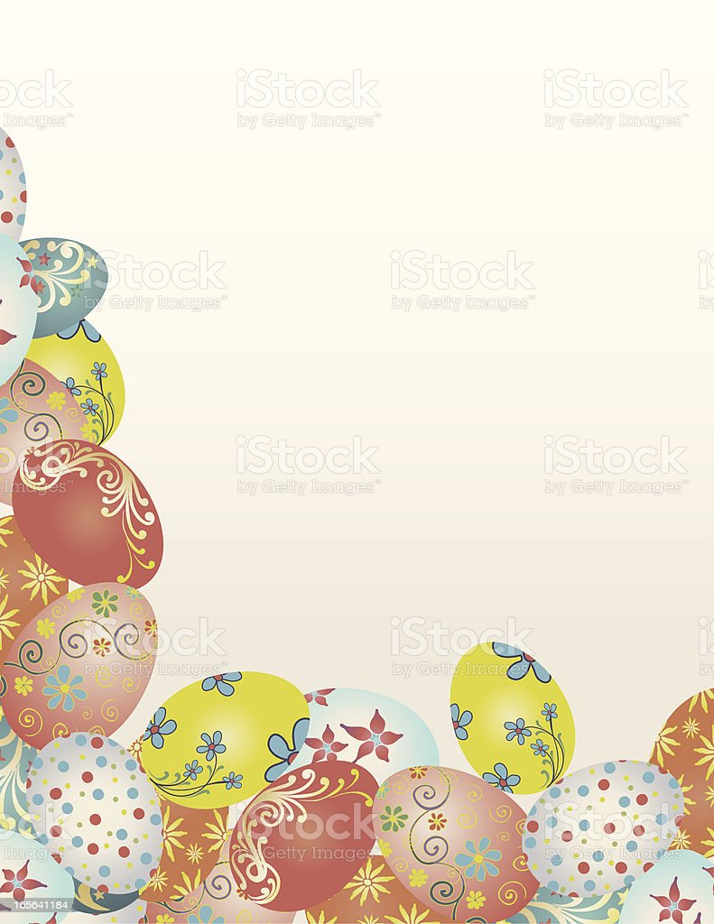 Vintage Easter Egg Cluster royalty-free stock vector art