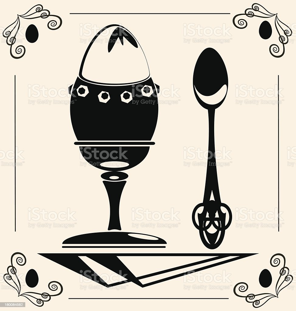 vintage egg royalty-free stock vector art