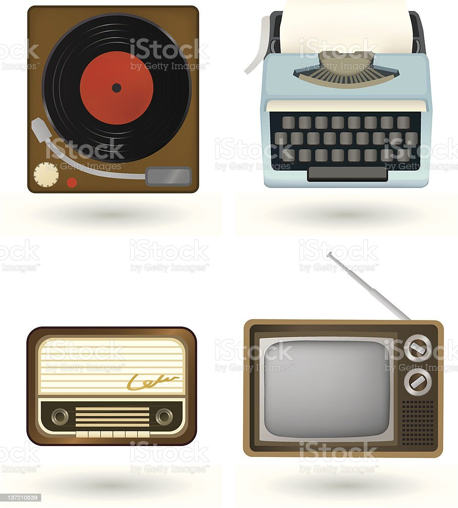vintage electronis royalty-free stock vector art