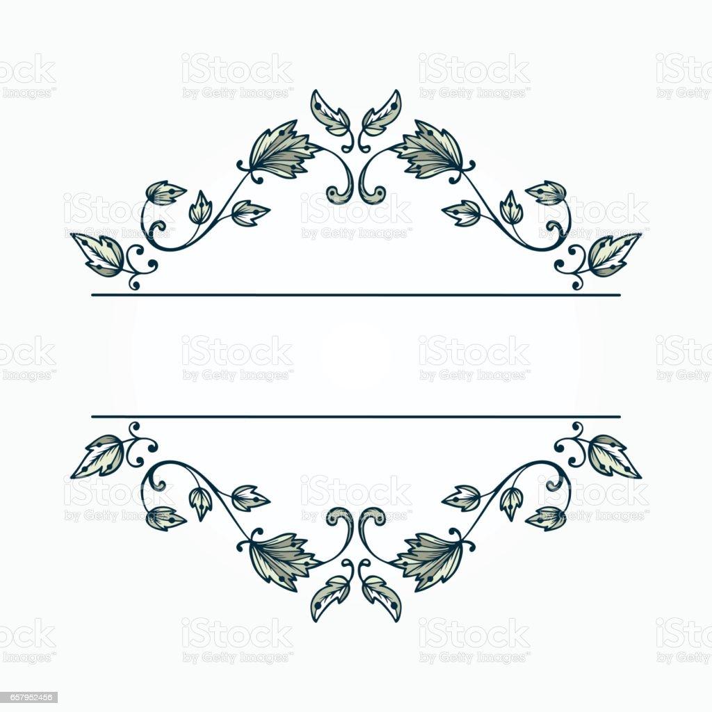 vintage elegant floral pattern border for design floral