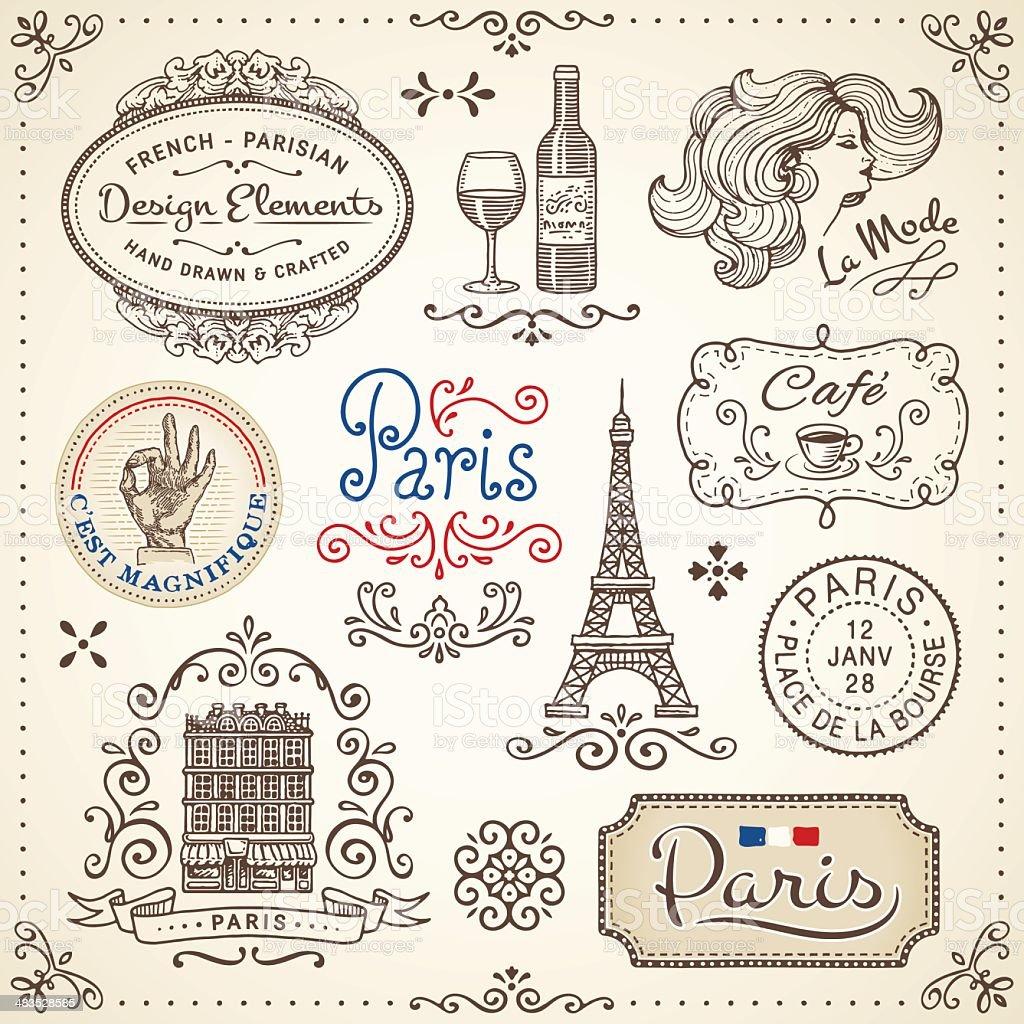 Vintage Elements vector art illustration