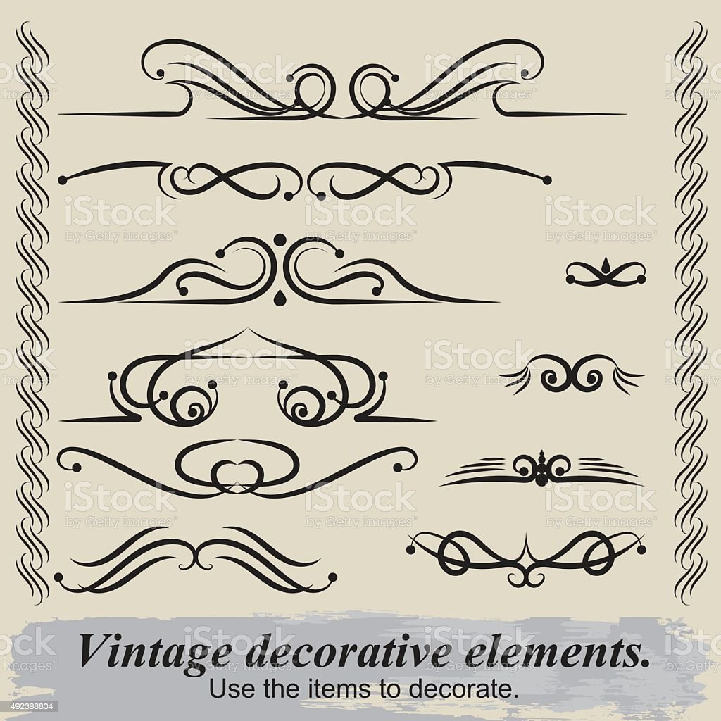 Vintage elements. vector art illustration