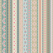 Vintage ethnic seamless backdrop with tribal shape elements.
