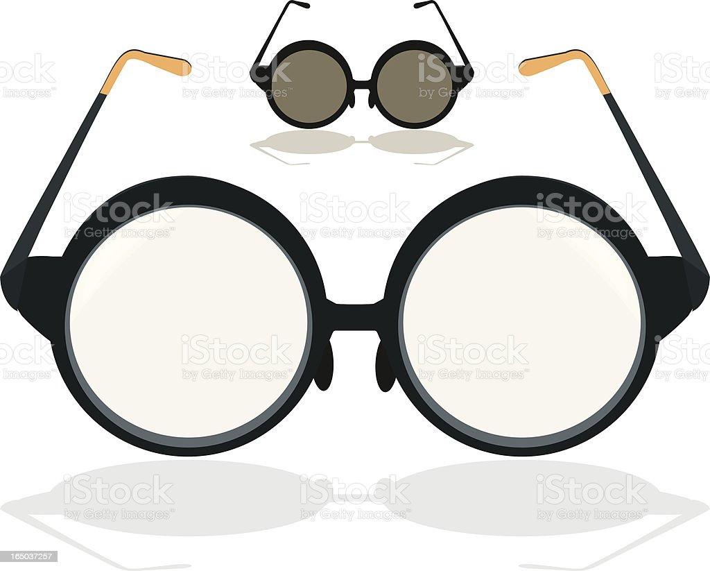 Vintage Eyeglasses royalty-free stock vector art
