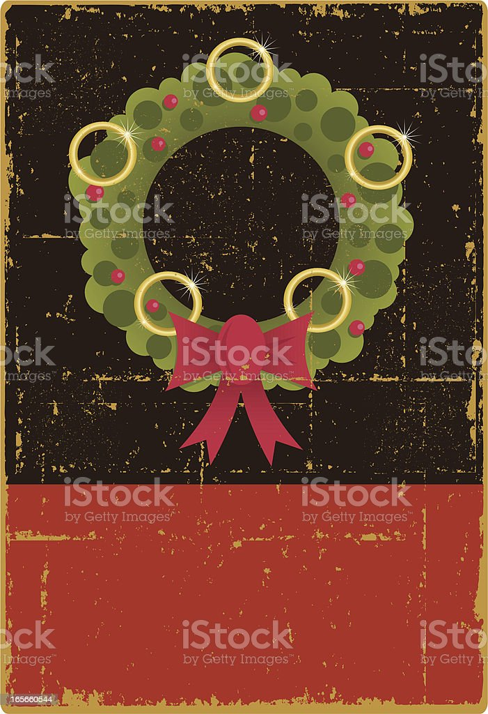 Vintage Five Golden Rings royalty-free stock vector art
