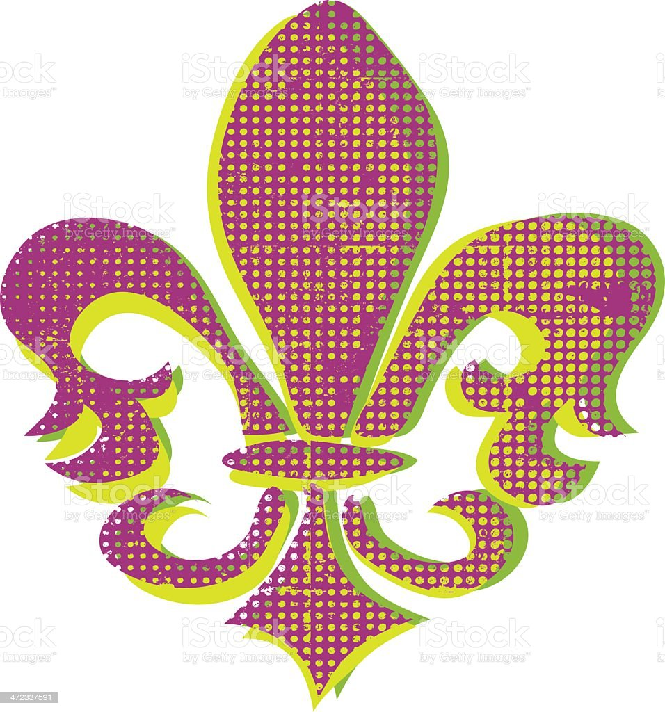 Vintage Fleur De Lys royalty-free stock vector art