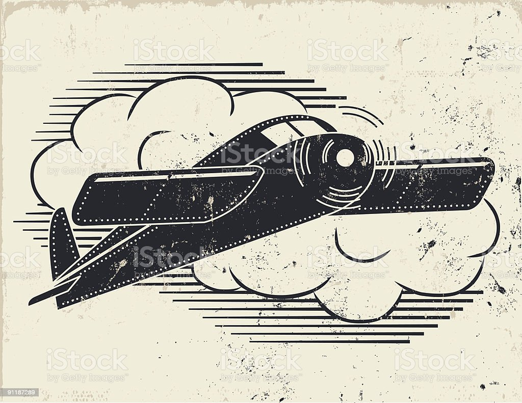 Vintage Flight 2 vector art illustration