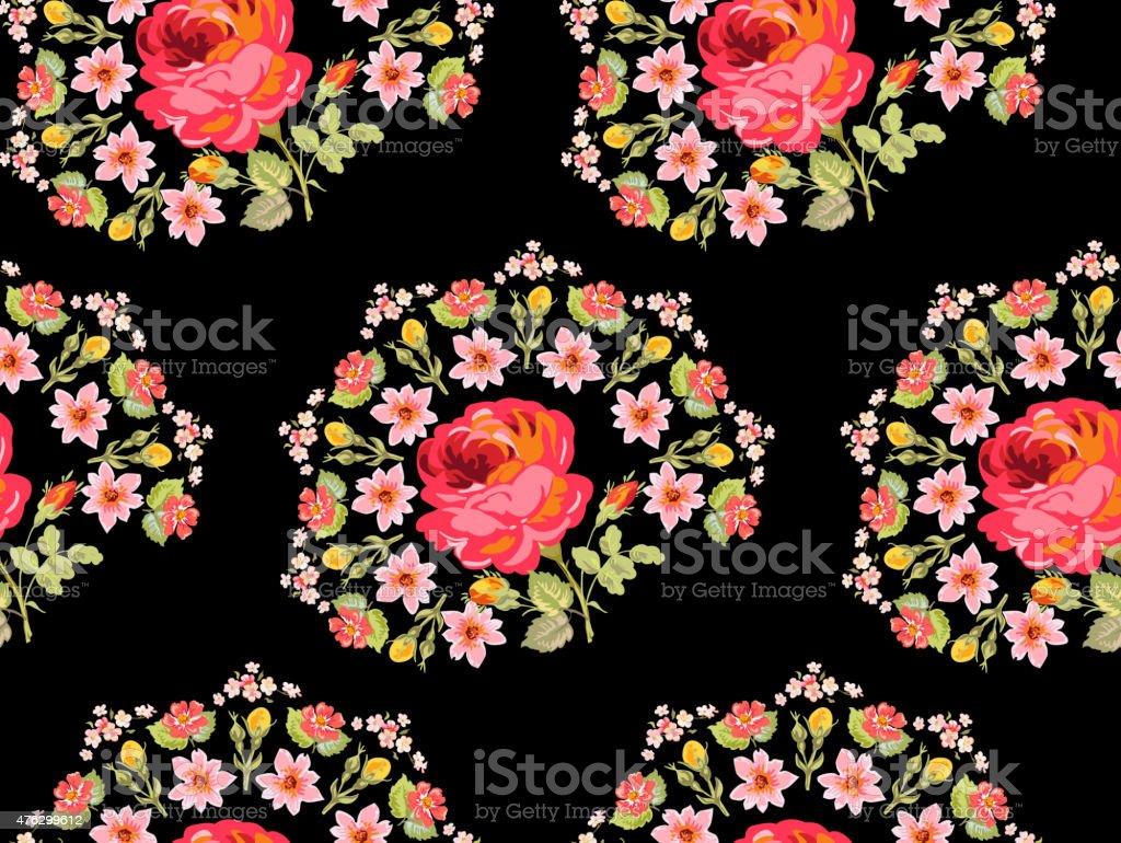 Vintage Floral Print Vintage Floral Background Seamless Pattern For Design Print Stock