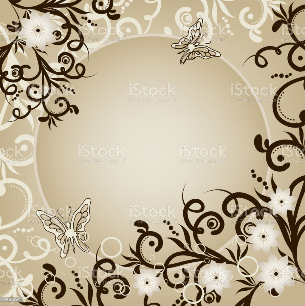 Vintage Floral Background royalty-free stock vector art