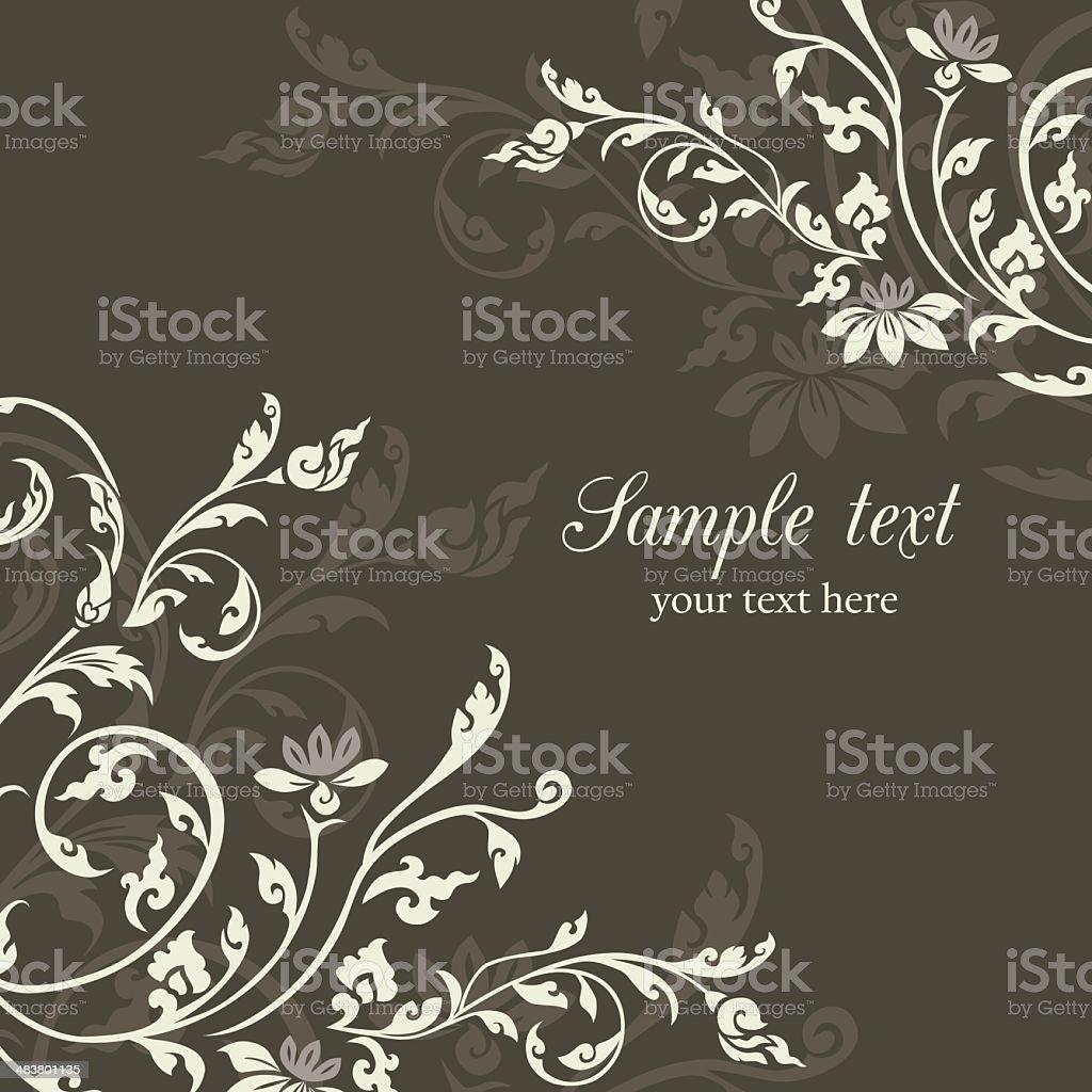 Vintage floral design pattern background vector art illustration