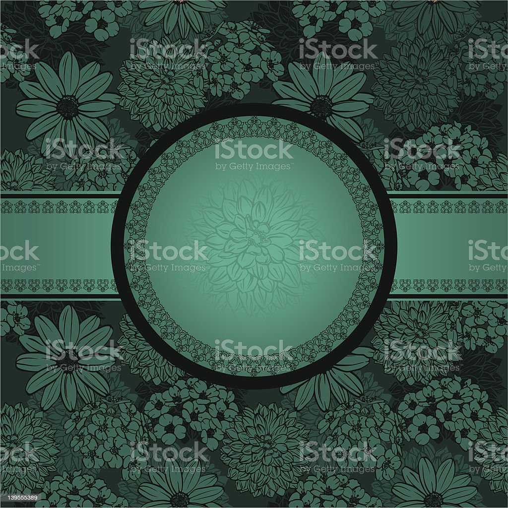 Vintage floral  frame royalty-free stock vector art