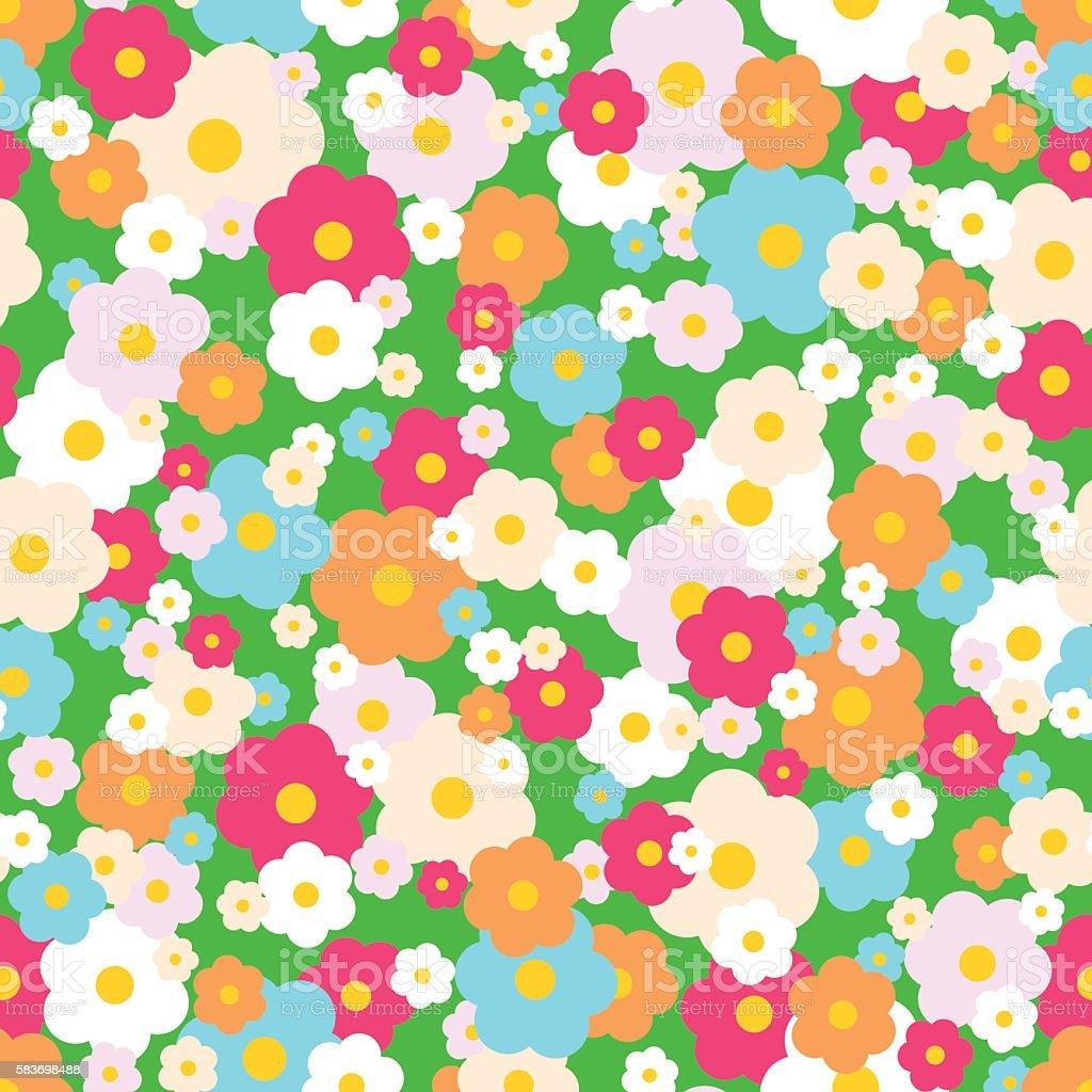 Vintage Floral Pattern vector art illustration