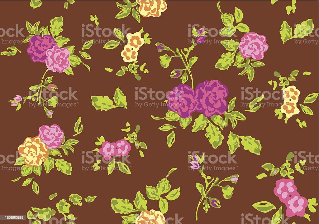 Vintage floral wallpaper - Illustration royalty-free stock vector art