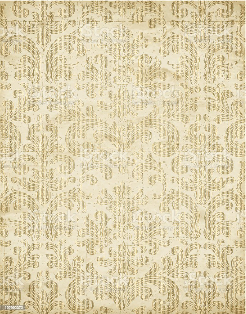 Vintage Floral Wallpaper Texture Vector royalty-free stock vector art
