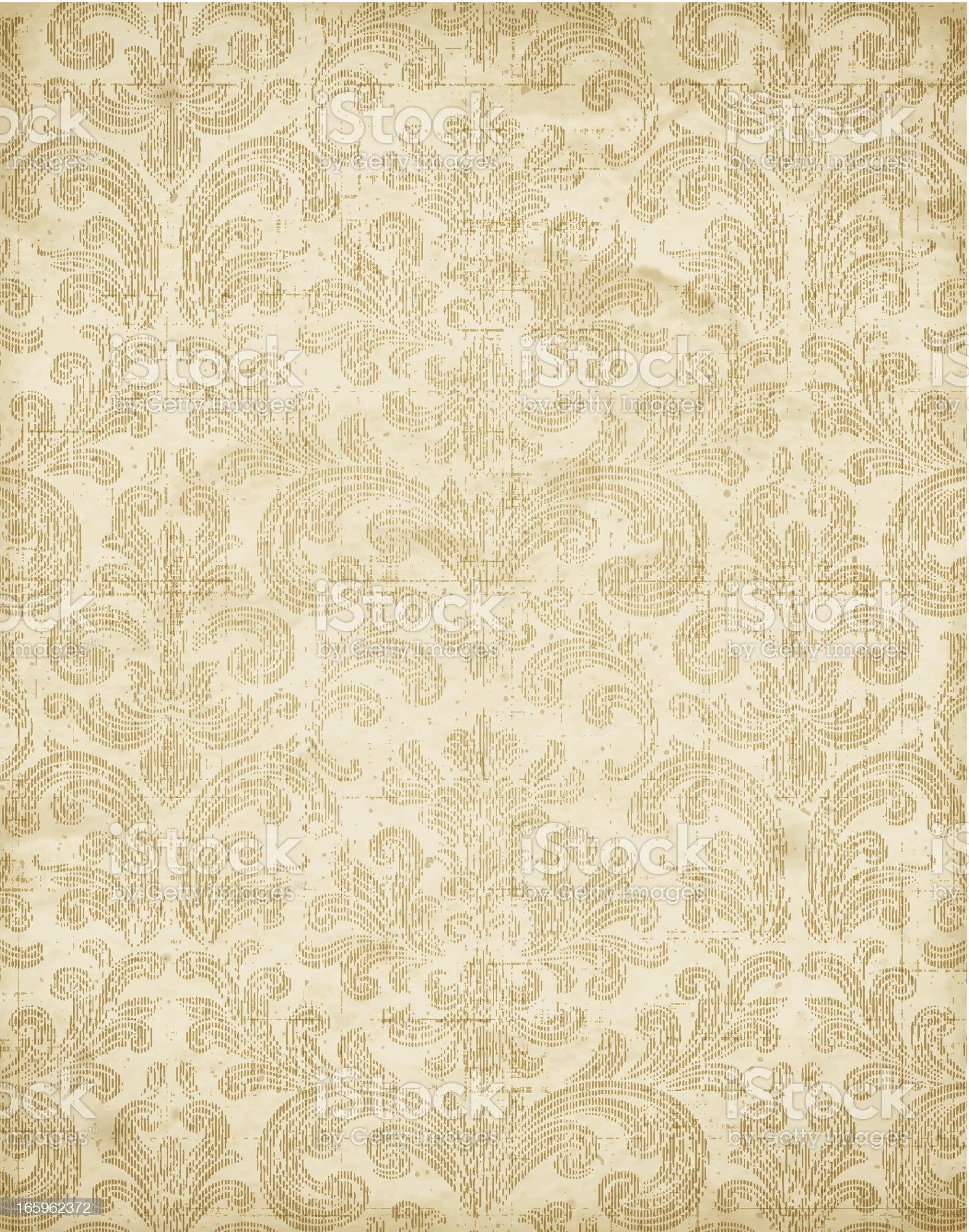 Vintage Floral Wallpaper Texture Vector royalty-free stock vector art
