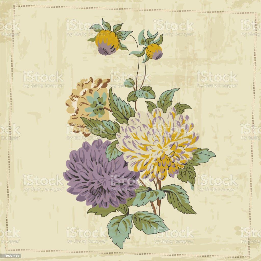 Vintage Flower Background royalty-free stock vector art