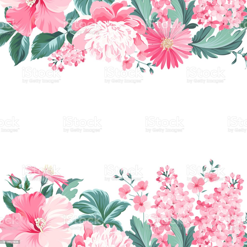 Vintage Flower Frame stock vector art 613907908   iStock
