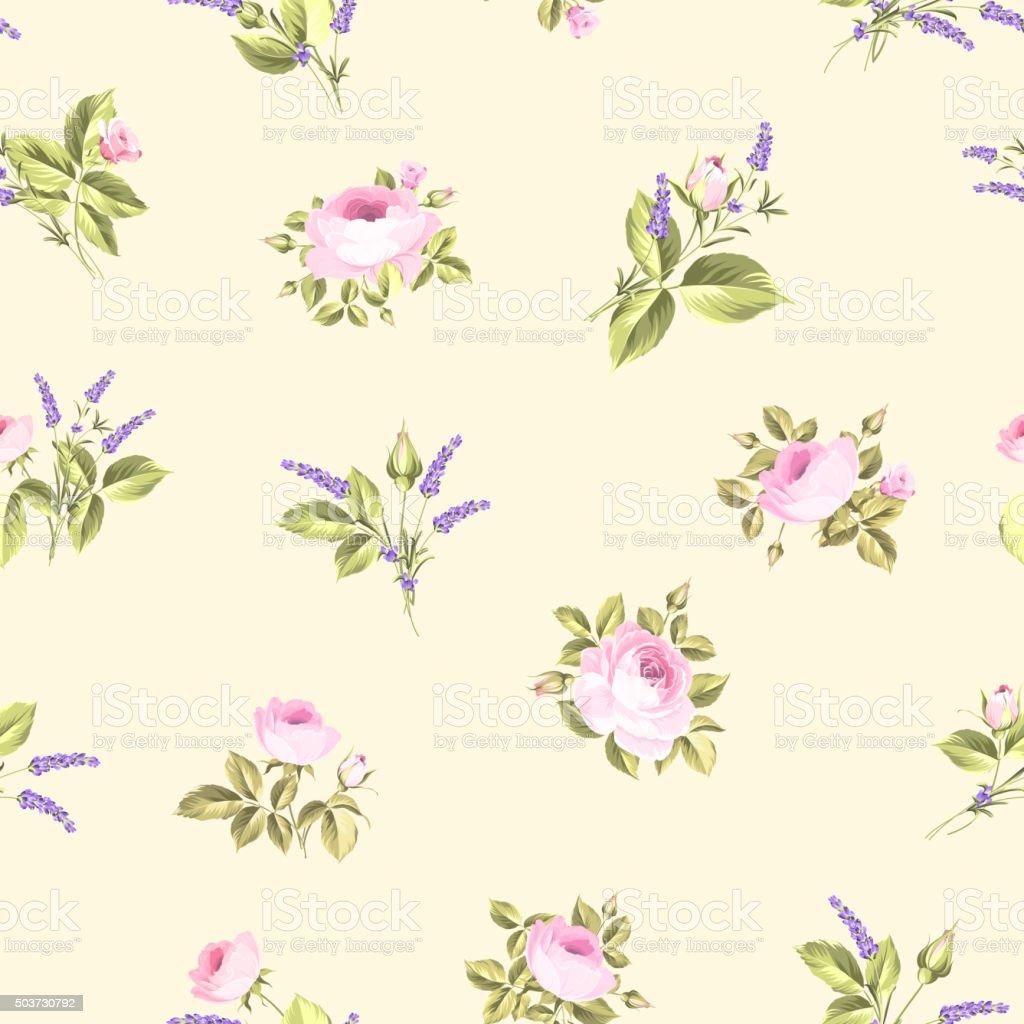 Vintage flower pattern vector art illustration