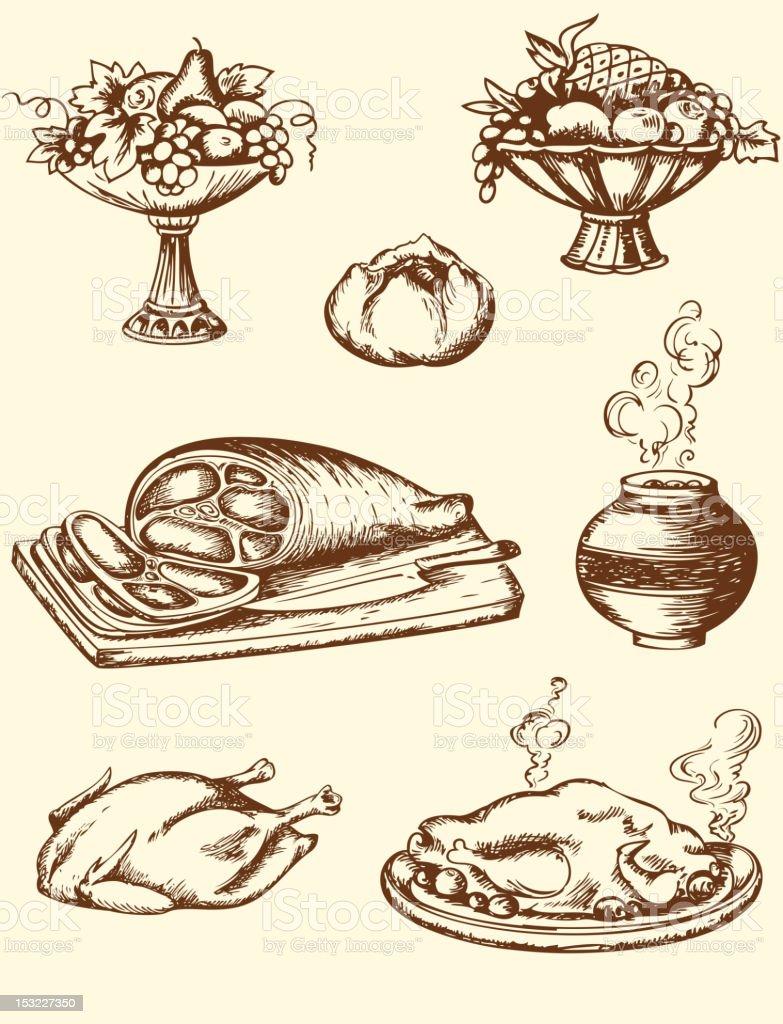 Vintage food royalty-free stock vector art