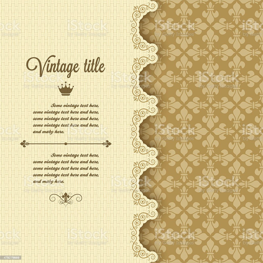 vintage frame background vector art illustration