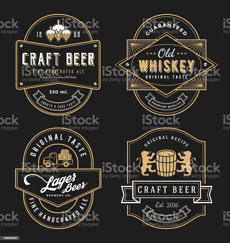 Vintage frame design for labels, banner, sticker and other design. vector art illustration