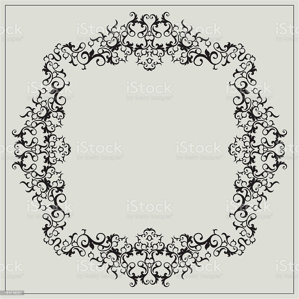 Vintage Frame Design vector art illustration