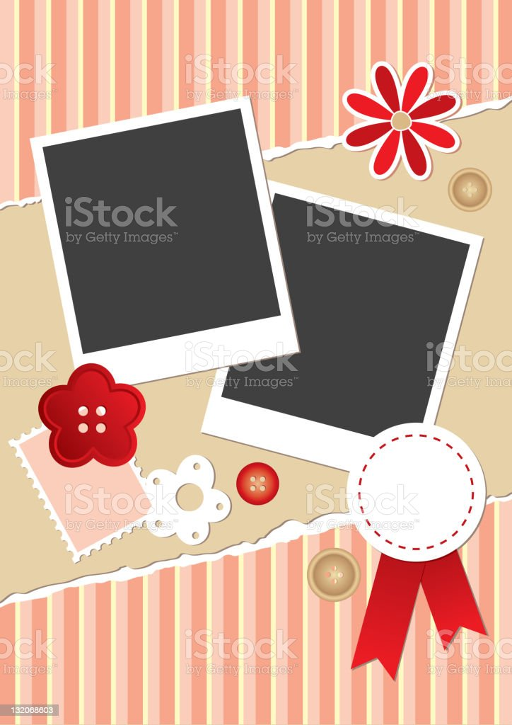 vintage frame for photos royalty-free stock vector art