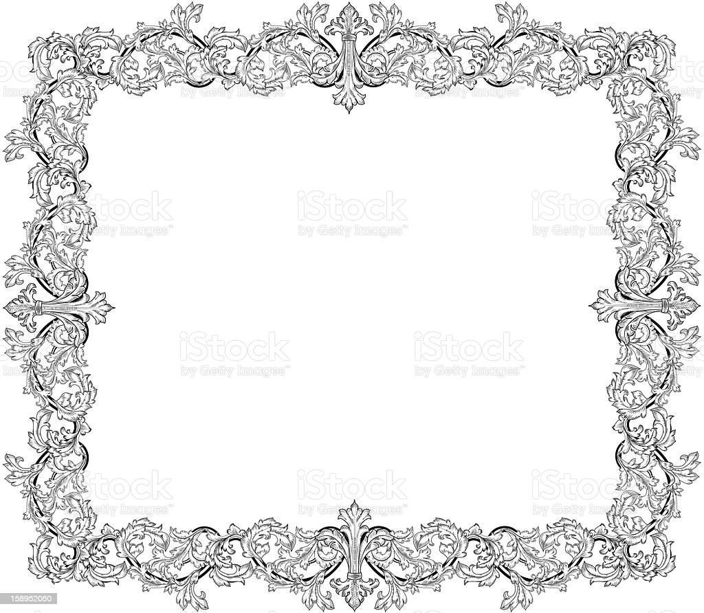 Vintage frame in style baroque royalty-free stock vector art