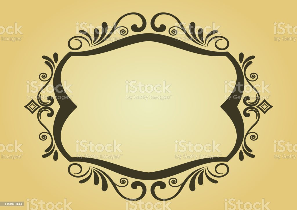 Vintage frame in victorian style royalty-free stock vector art