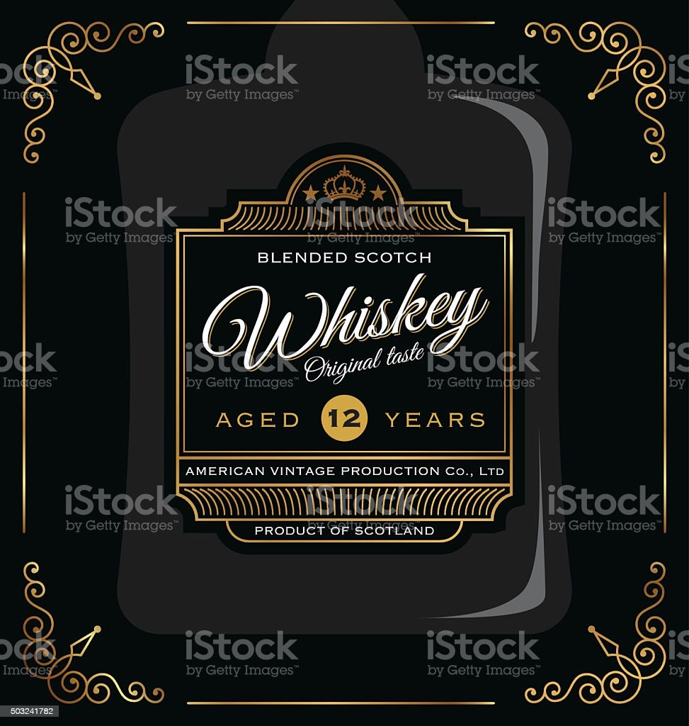 Vintage frame label design. vector art illustration