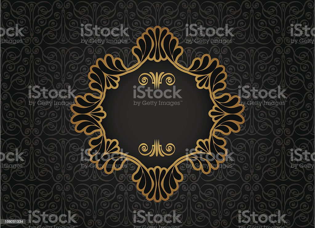 Vintage frame on decorative background royalty-free stock vector art