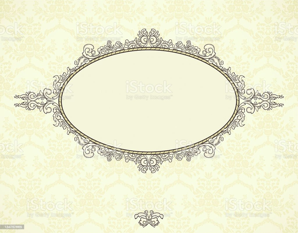 Vintage frame on seamless background royalty-free stock vector art