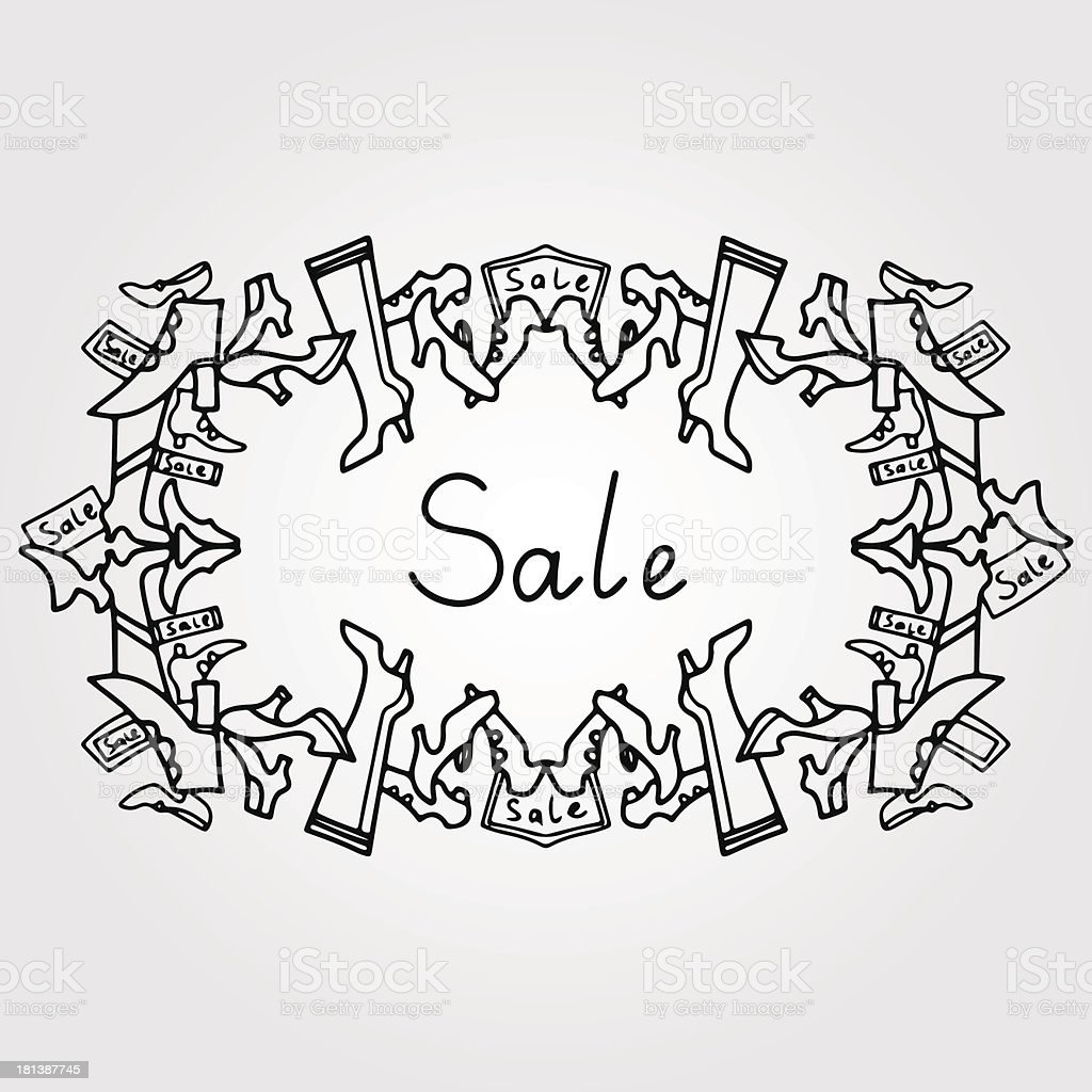 Vintage frame shoes sale royalty-free stock vector art
