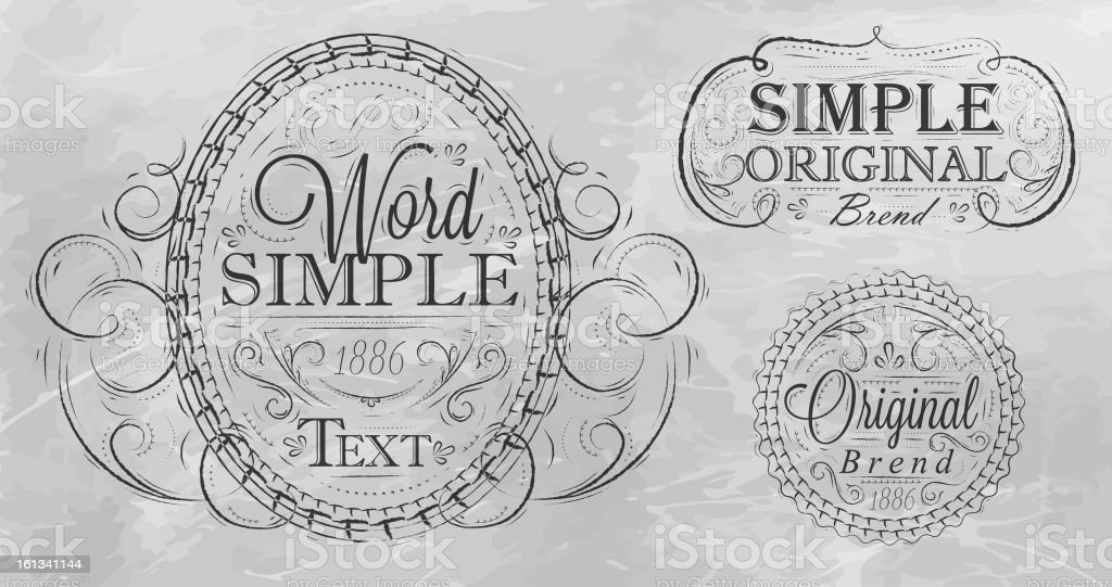 Vintage frame with ornaments 2 royalty-free stock vector art