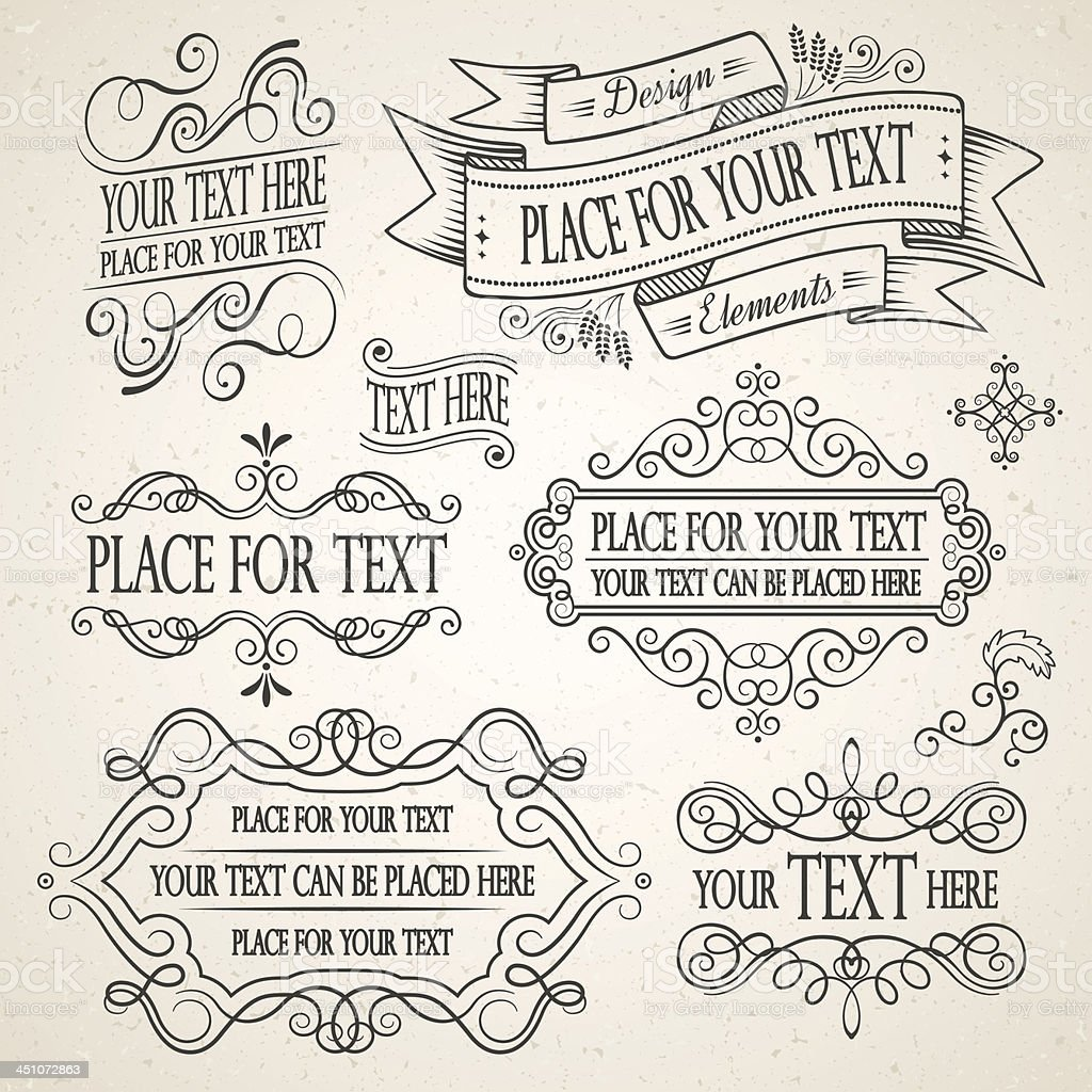 Vintage Frames and Decorative Elements royalty-free stock vector art