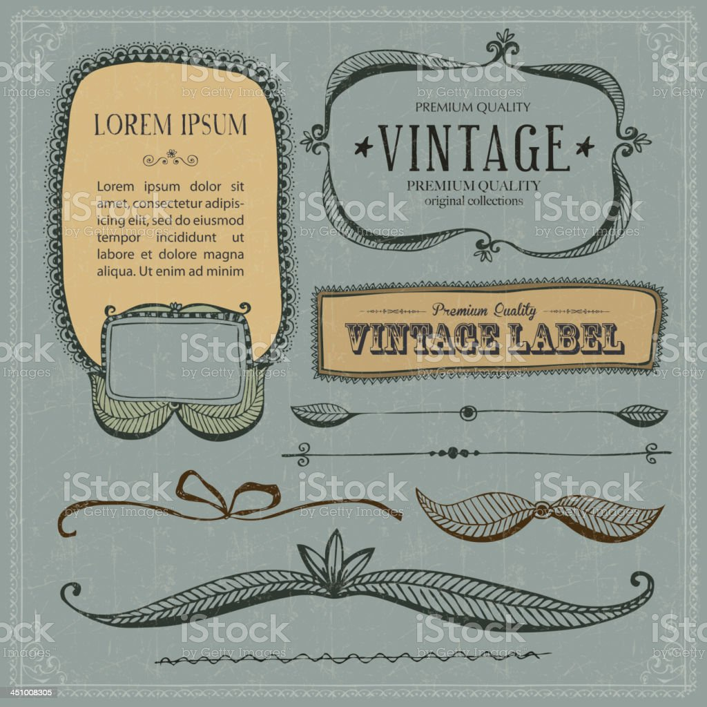 Vintage Frames and design elements royalty-free stock vector art