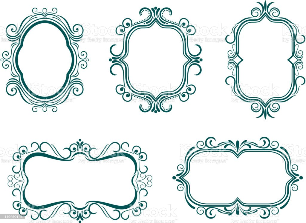 Vintage frames royalty-free stock vector art