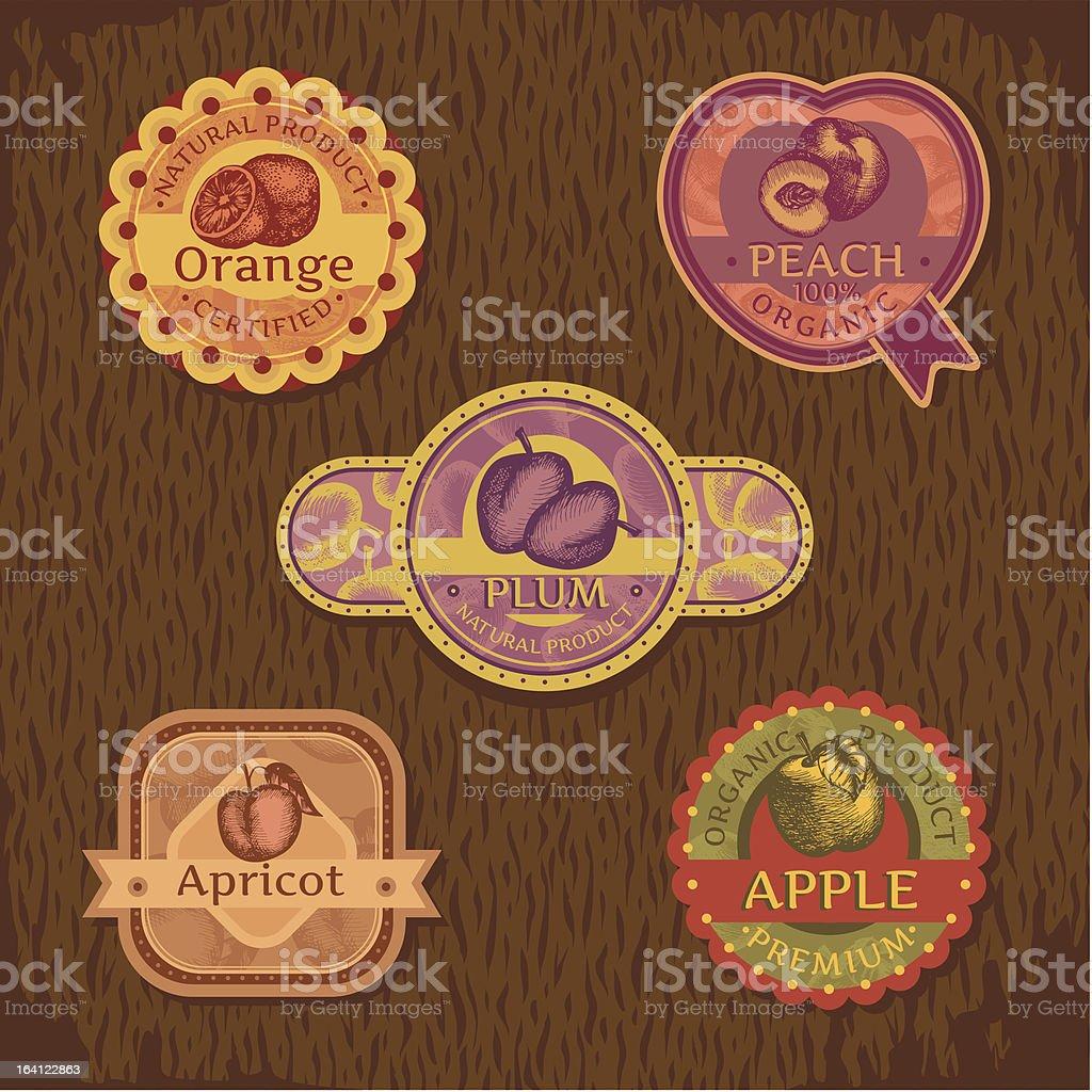 vintage fruit label royalty-free stock vector art