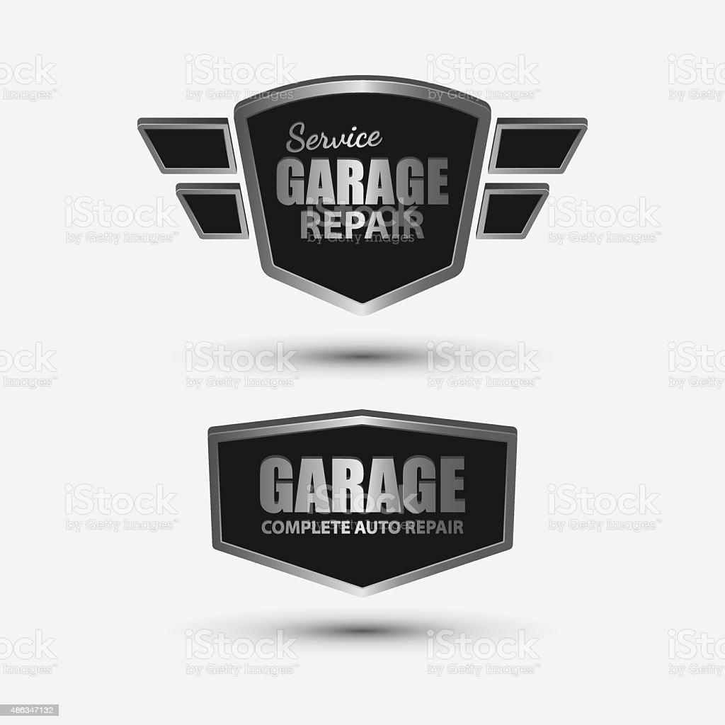 Vintage garage retro label design.vector vector art illustration